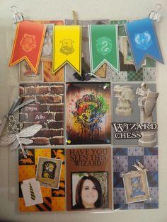Harry Potter pocket letter Harry Potter Scrapbook, Harry Potter Theme, Harry Potter Birthday, Harry Potter Diy, Harry Potter Universal, Project Life, Book Crafts, Paper Crafts, Pocket Pal