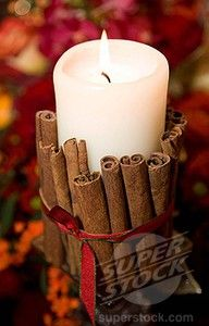 The candle warms and the cinnamon releases a great scent.