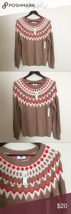 """Cozy Sweater Condition➝new with tags Material➝cotton/polyester/acrylic blend Length➝27"""" Bust flat➝20"""" Old Navy Sweaters Crew & Scoop Necks"""