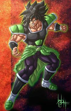 Broly in his what I call Battle Form, sorta like a black haired super saiyan, a unique form to the legendary saiyans. This is the form that inspired my . Dbz, Goku E Vegeta, Dragon Ball Z, Broly Ssj4, Hero Fighter, Dragon Super, Fanart, Epic Characters, Goku Super