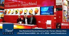 Deutschland auf der Ferienmesse Wien 2016 - #TravelLive – Twitter Reiseberichte in Echtzeit Tv, Twitter, Travel Report, Germany, Television Set, Television