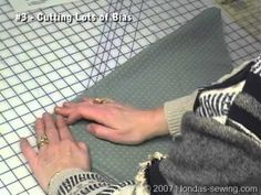 Londa Demonstrates How To Fold Fabric to cut Long Strips of Bias - YouTube.  GOOD AND CLEAR