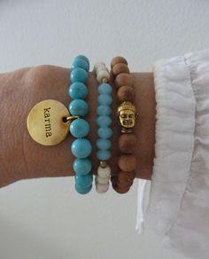 3 yoga bracelets beachcomber karma bracelet by beachcombershop