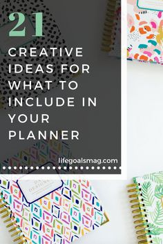 Fun ideas for what to write in your planner.