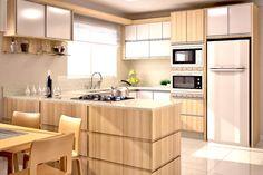COZINHA REINAS Kitchen Interior, Kitchen Design Small, Dining Room Small, Kitchen Remodel, Kitchen Decor, Kitchen Furniture Design, Home Kitchens, Kitchen Design, Kitchen Window Design