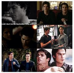 Maybe not with Stefan, but Damon loved Jeremy.Love watching the vampire diaries.Please check out my website thanks Klaus From Vampire Diaries, Vampire Diaries Memes, Vampire Diaries Seasons, Vampire Diaries The Originals, Vampier Diaries, Original Vampire, Mystic Falls, Damon Salvatore, Ian Somerhalder