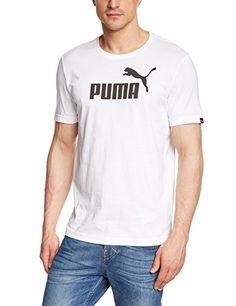 Maglietta fitness con logo Uomo - Puma - Essential No.1 - Bianco - taglia L 6e17ed415aab
