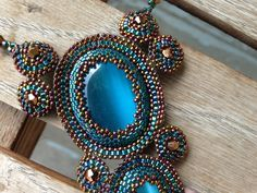 One of my latest beaded bezels