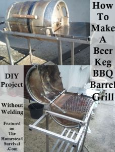 The Homestead Survival   How to Make A Beer Keg BBQ Barrel Grill DIY Project   Homesteading & Re Purposing - Upcycling