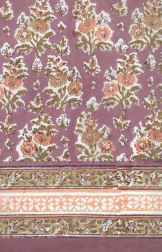 hand-block printed cotton by Anokhi Textile Prints, Textile Design, Textiles, Block Print Saree, Block Prints, Pattern Art, Print Patterns, Bali Garden, Pink Popcorn