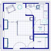 Ideas for master bath layout (this is a strange one) Master Bedroom Addition, Master Bedroom Plans, Small Master Bedroom, Bedroom Floor Plans, Master Bedroom Design, Master Bathroom, Master Suite Layout, Master Suite Floor Plan, Bedroom Layout How To Arrange
