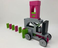 Pink and Green Domino Machine II: 5 Steps (with Pictures) Impression 3d, Fire Pit Uses, Removing Popcorn Ceiling, 3d Foto, Portable Workbench, Homemade Tables, Pallet Playhouse, Concrete Bowl, Simple Pictures