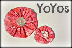 Fabric YoYos (A Twisted Quickie)