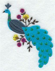 Hungarian peacock folk art