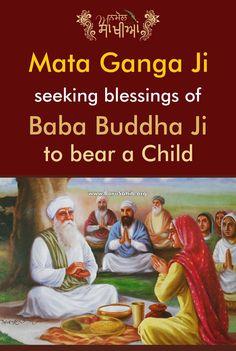 #AnmolSakhiyan Mata Ganga Ji seeking blessings of Baba Buddha Ji to bear a Child! Mata Ganga Ji was the wife of the 5th Sikh Guru, Guru Arjan Dev Ji and the mother of the 6th Sikh Guru, Guru Hargobind Ji. She was born in Punjab to Bhai Kishan Chand. In one sakhi, Guru Arjan Dev Ji suggested to Mata Ganga Ji to seek blessings from Baba Buddha Ji, a true saint.