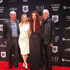 MAGE MUSIC: 2015 19 November Jimmy Page Honoree at EMP Museum, Seattle - 2015 EMP Founders Award - unknown couple, possibly a tired Scarlett Sabet, and Jimmy Page