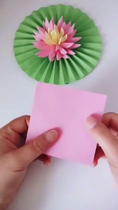 You'll be amazed at how simple this beautiful origami lotus flower is to make with just a few cuts, folds and a little added creativity!---- More DIY Ideas ---- This is easy craft of paper origami that kids can make, and most of all, it's useful Paper Flowers Craft, Paper Crafts Origami, Paper Crafts For Kids, Origami Art, Flower Crafts, Diy Flowers, Diy Paper, Paper Crafting, Lotus Origami