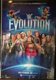 WWE Evolution WWE first all-women's Pay-Per-View Returns to Uniondale, New York with Watch WWE Evolution 2018 main event, a historic event taking place at the Nassau Veterans Memorial Coliseum on Sunday, Oct. Ronda Rousey, Rousey Wwe, Wwe Events, Shayna Baszler, Wwe Women's Division, Wwe Female Wrestlers, Mickie James, Wwe Girls, Wwe Wallpapers