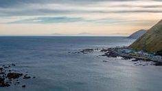 looking across the Cook Strait towards the South Island