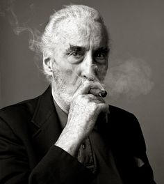 Christopher Lee by Andy Gotts.