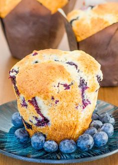 Jumbo Blueberry Buttermilk Muffins are one of my favorites. Enjoy this simple recipe of blueberry muffins with your family.