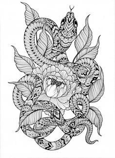 """My series """"Serpents"""" is still available to view at as part of their """"Art in Mind"""" exhibition, running until 13 November By Dominique Holmes Tatoo Snake, Snake Art, Mandala Arm Tattoo, Mandala Art, Animal Mandala Tattoo, Elbow Tattoos, Sleeve Tattoos, Mandala Design, Japanese Snake Tattoo"""