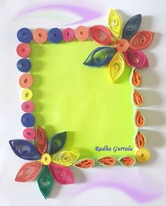 Paper Quilled Greeting card by Radha Gurrala (G G B)