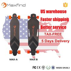 Find More Electric Scooters Information about USA stock 5days delivery  Maxfind remote control 4 wheels electric longboard Skateboard dual hub drive motor scooter ,High Quality scooter atv,China motor acceleration Suppliers, Cheap scooter motor from Maxfind online Store on Aliexpress.com