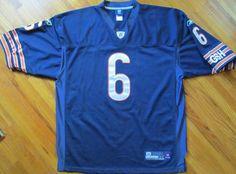 Men's Size 54 NFL Chicago Bears #6 Jay Cutler Onfield Reebok Stitched Jersey #OnfieldReebok #ChicagoBears