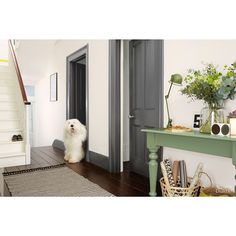 farrow and ball shadow white walls drop cloth woodwork. Black Bedroom Furniture Sets. Home Design Ideas