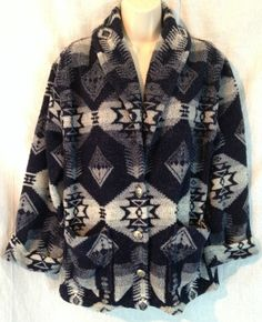 90bd521a2b Lauren Ralph Lauren Petite PM Aztec Navajo Southwestern Blue Cardigan  Sweater  LaurenRalphLauren  Cardigan Blue