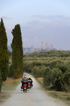 "Bikers from ""TorrePrima Holidays"" to San Gimignano, Tuscany. http://www.torreprima-holidays.it"