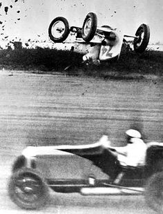 """Ascot Speedway opened in 1924 it wasn't only among the region's most popular racetracks - it was also one of its most deadliest. More than 20 people died and became known as the """"Killer Track."""" Frenchman Pierce Bertrand's car overturned in 1936... he only suffered minor bruises from this crash at the """"Killer Track."""""""