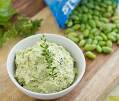 We have a hard time keeping Trader Joe's Edamame Hummus in the fridge because it's so good that we want to devour it all immediately! Here's a homemade version that we want to make over and over/dcc