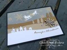 Carolina Evans - Stampin' Up! Demonstrator, Melbourne Australia: NEW! Jingle All the Way with Sleigh Ride Edgelit D...
