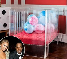 Beyonce and Jay-Z heart nursery works' lucite vetro crib as much as we do. can you blame her?