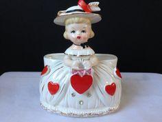 Fine A Quality  Japan Ceramic  Valentine  Figurine  by nddevens, $65.00