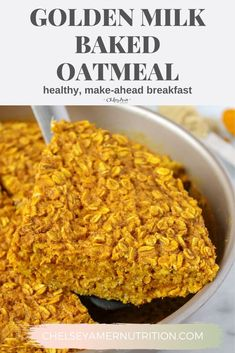 Gluten Free Recipes For Breakfast, Dairy Free Recipes, Brunch Recipes, Free Breakfast, Breakfast Ideas, Baked Oatmeal Recipes, Baked Oats, Peanut Free Foods, Golden Milk