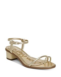 Sam Edelman Women's Isle Barely There Dress Sandals Women's Shoes In Molten Gold Dress Sandals, Strappy Sandals, Shoes Sandals, Shoes Photo, Metallic Leather, World Of Fashion, Luxury Branding, Footwear, Sandals Online
