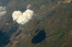 Nube en forma de corazón...