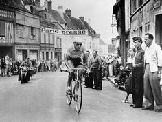 In 1949 year this photo was taken Coppi wins the tour de france