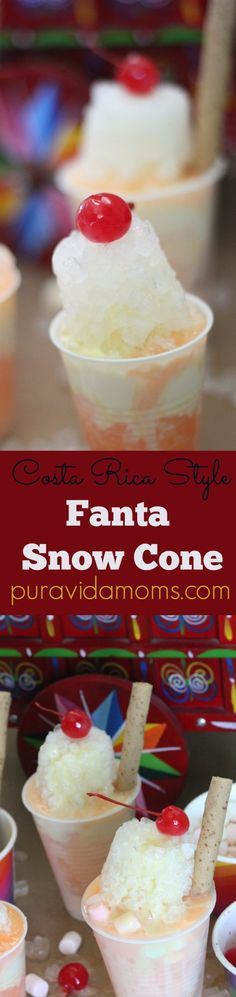 This Fanta Orange Snow Cone recipe is the perfect way to cool off in the summer! #ad #RefrescaTuSummer