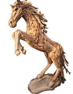 Life -size driftwood horse and driftwood horse heads for sale - Driftwood Horse Life -size driftwood horse and driftwood horse heads for sale – Driftwood Horse Driftwood Sculpture, Horse Sculpture, Animal Sculptures, Driftwood Furniture, Wood Ornaments, Luxury Decor, Horse Head, Better Homes And Gardens, Modern Interior Design