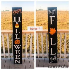 Halloween Wood Crafts, Outdoor Halloween, Halloween Porch, Halloween Signs, Halloween Decorations, Scary Halloween, Fall Crafts, Fall Halloween, Holiday Crafts