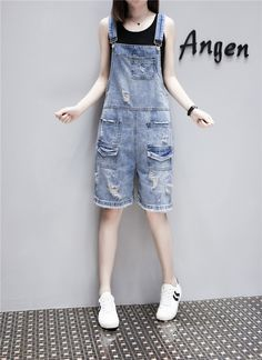20af9c99372 Loose Solid Women Playsuits and Jumpsuits Pockets Fashion Casual Denim  Overall Shorts Summer Plus Size Jean Overalls for Women  rompers  jumpsuit   playsuit ...