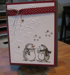 Stampin Up! Best of Snow, Hedgehog Happiness