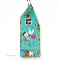 Engel oben rustikale Wand hängen-Home Deko Haus von AgnesLaczo