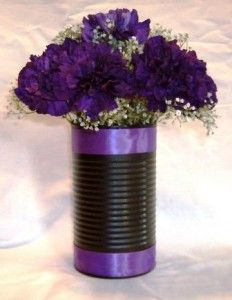 vases out of cans
