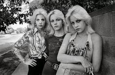 Cherie Currie, right, lead singer of the Runaways, and her twin sister, Marie, flank Vicki Razor Blade from Venus & the Razor Blades in 1977. (Photo Brad Elterman) Brad Elterman was at the centre of Los Angeles Rock and Punk scene in the late 1970s and early 80s. He was there at the craziest of parties and backstage at the most legendary concerts