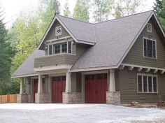 44 Best Small Cottage House Exterior 20 with Garage Garage Apartment Plans, Garage Apartments, Garage Plans, Garage Ideas, Garage Apartment Interior, Carport Ideas, Apartment Kitchen, Bedroom Apartment, Granny Pods